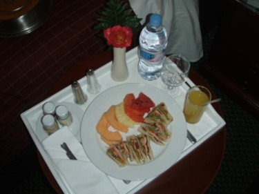 Room service at night on the day of the surgery