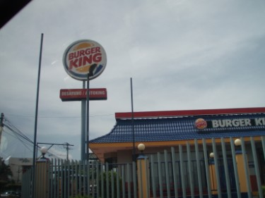 Burger King in El Salvador - No we didn't eat there!