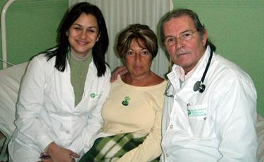 Doctors Fernandez Vina and Janina from the Fundacion Fernandez Vina in Argentina