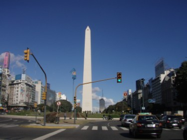 On the way to Ezeiza International Airport in Buenos Aires